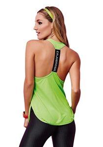 97c3016c517 CAJUBRASIL 6917 Sexy Workout Tank Top - Yoga Top- Energy Green