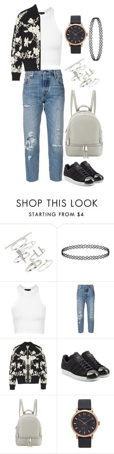 """Suggested 2.0"" by mathilda96 ❤ liked on Polyvore featuring Topshop, Levi's, Alexander McQueen, adidas Originals, MICHAEL Michael Kors and Marc by Marc Jacobs"