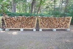 Building a no-tools-needed firewood rack  A stable, strong, easily-movable, cheap firewood rack is a thought-provoking project. Architectural Landscape Design