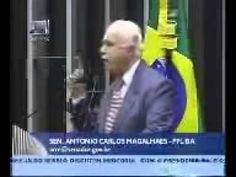ANTÔNIO CARLOS MAGALHÃES, CONVOCANDO AS FORÇAS ARMADAS CONTRA LULA