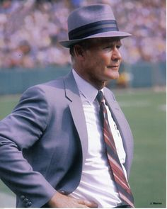 Tom Landry, Dallas Cowboys  We need somebody like him again!  Jerry never been my favorite!!