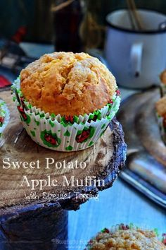 Sweet Potato Apple Muffins with Streusel Topping