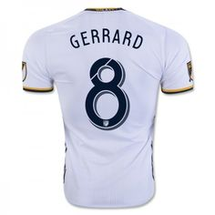 efe93acf3 adidas LA Galaxy Gerrard Home 2016 Jersey (White Navy Yellow)