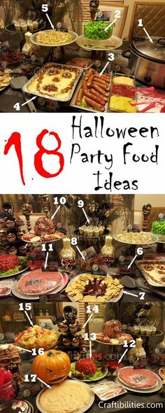 Easy Halloween /birthday party food - snack ideas - Kids or adults- CREEPY and g. Easy Halloween /birthday party food - snack ideas - Kids or adults. Hallowen Party Easy Halloween /birthday party food - snack ideas - Kids or adults- CREEPY and g. Halloween Snacks, Entree Halloween, Halloween Fingerfood, Creepy Halloween Party, Hallowen Food, Halloween Cupcakes, Vintage Halloween, Pretty Halloween, Halloween Parties