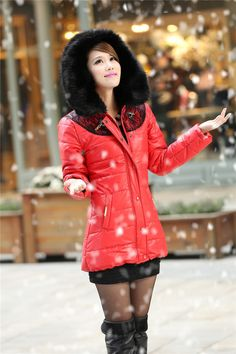 Women : Korean Hooded cotton fur coat ghl2740 winter coat