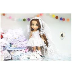 Wedding dress .Doll clothes for Disney by RabbitinthemoonThai