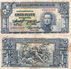 5 pesos Uruguay 1939