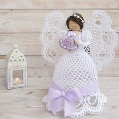 The most beautiful openwork crochet angels
