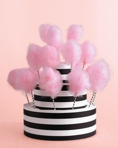 """See+the+""""Cotton+Candy+Stand""""+in+our+Wedding+Colors:+Black,+White,+and+Pink+gallery"""