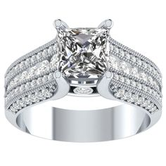 2.5 ct Diamond Solitaire Engagement Wedding Ring in 14kt Gold Over Silver #RegaaliaJewels #Solitaire