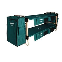 Disc-O-Bed Cam O Bunk 32 in. Green Bunkable Beds with Hanging Cabinets (2-Pack)-30001BOC at The Home Depot