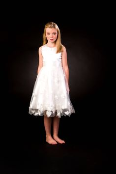 ❣› Flower Girl / First Holy Communion dress in #white, with very #delicate... http://etsy.me/2htWXPB