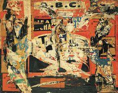 Jacques Villeglé, ABC, 4 March 1959, décollage mounted on canvas