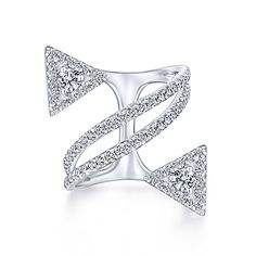14k White Gold Kaslique Statement Ladies' Ring angle 1