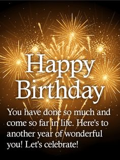 To Wonderful You! Happy Birthday Wishes Card