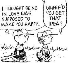 Haha! Charlie Brown and Linus