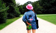 Flamingo Style- Tropical Denim Total Look ~ Mi Vida en Rojo