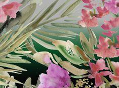 Watercolour tropical floral. Research for Carioca range. Samantha Warren