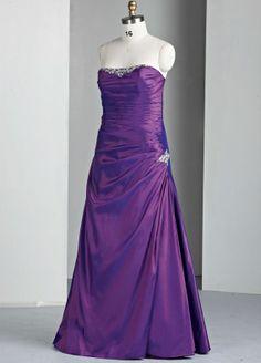 Taffeta Softly Curved Neckline Ruffled Bodice Long Prom Dress