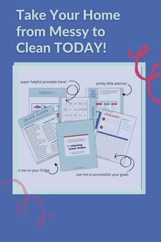 The dog needs to go out, your son just dropped his toy car in the toilet and who knows what's for dinner. Life is chaotic, you don't have hours to clean your house. For less than the cost of a cheap dinner out, you can maintain a clean home with this printable cleaning schedule, including step-by-step instructions that will enable you to get the kids and spouse to pitch in. Isn't your sanity worth it? Cleaning Schedule Printable, Spring Cleaning Checklist, Chemical Free Cleaning, Helping Cleaning, Take You Home, Green Life, Sign I, Quotes For Kids, Step By Step Instructions