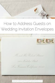 How to Address Guests on Wedding Invitation Envelopes - İnvitation Envelope Addressing Wedding Invitations, Wedding Invitation Etiquette, Wedding Reception Invitations, Wedding Etiquette, Wedding Envelopes, Addressing Envelopes, Reception Card, Wedding Invitation Design, Wedding Stationery