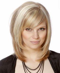 Layered medium haircuts with bangs