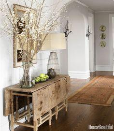 Modern Country Hallway - House Beautiful Pinterest Favorite Pins January 28, 2014 - House Beautiful