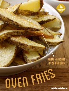 Pretty fly for an oven fry. These these crispy oven fries make a great side and are ready in just 20 minutes!