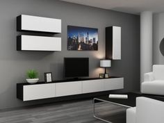 HIGH GLOSS TV CABINET / TV WALL UNIT / TV STAND 'VIVA 13'