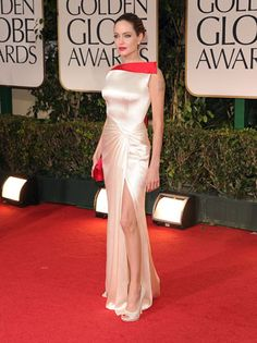 Angelina Jolie in Atelier Versace at the 2012 Golden Globes