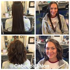 Before and after of @kelseykirkturner favorite kind of hair cut to do, a donation! Thank you for donating your beautiful hair! #before #after #cabellossalon #cabellostally #tally #tallahassee #hair #salon #spa #short #long #haircut #transformation #beforeandafter