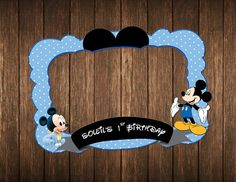 mickey mouse photo booth prop  Customize photo booth by IRMdesgn