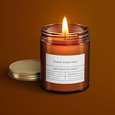 Diy Candle Labels, Diy Candle Holders, Custom Candles, Diy Candles, Scented Candles, Candle Shop, Candle Jars, Candle Maker, Honey Packaging