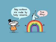Baby Rainbow Art Print por bikeparts en Etsy