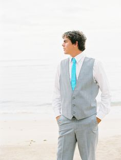 Beach Wedding Groom Style -- Photography: WendyLaurel.com -- see more wedding inspiration on #SMP here: http://www.StyleMePretty.com/destination-weddings/2014/05/13/hawaiian-beach-wedding-inspiration/