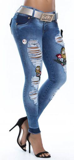 Jeans levanta cola NYE 62762 Shorts, Girls Jeans, Denim Pants, Jeans Style, Autumn Fashion, Capri Pants, Tights, Cute Outfits, Clothes For Women