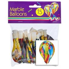Marble Balloons 15 Pack - Party Accessories - Celebrations - Party & Celebrations