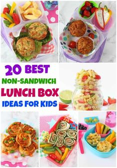 20 Delicious and Healthy Lunch Box Ideas for Kids That Aren't Sandwiches! 20 Delicious and Healthy Lunch Box Ideas for Kids That Aren't Sandwiches! Kids Packed Lunch, Healthy Lunches For Kids, Toddler Lunches, Kids Meals, Toddler Food, Healthy Lunchbox Ideas, Non Sandwich Lunches, Lunch Snacks, Clean Eating Snacks
