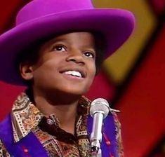 Little Michael in his purple hat