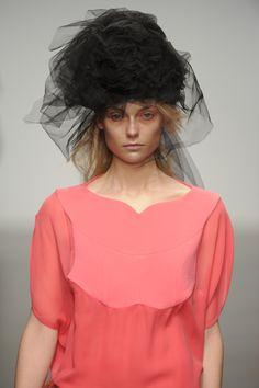 #JohnRocha #AW13 #catwalk #readytowear #LFW #london #pink #fashion #style #closeup #detail