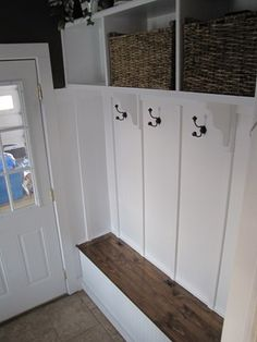 Like combination white and wood/basket. I want to replace my closet with this!