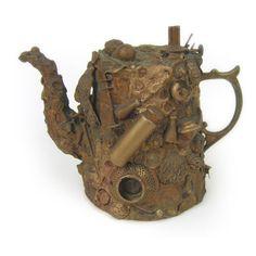 Memory Jugs, Folk Art Outsider Art @ Teresa Waller....memory tea pot?
