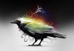 """In Celtic Mythology a Raven is a Sign of Change to Come"" ~♪ In Native tradition, Crow represents ""Spirit World"". Crow is ""LAW"". The Crow, Vikings, Quoth The Raven, Raven Art, Pet Raven, Jackdaw, Celtic Mythology, Crows Ravens, Celtic Art"