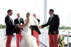groomsmen in nantucket reds