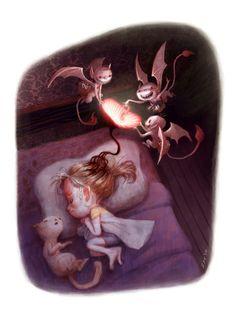 Nightmare Faeries-- ---(www.smallertotems.com) #webcomic #smallertotems #stuffedanimal