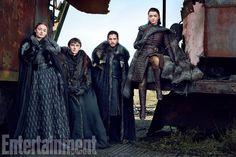 Sansa Stark, Bran Stark, Jon Snow, and Arya Stark Season 7
