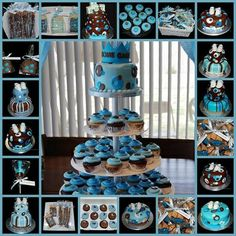 Brown and blue baby cake decorating ideas – just ideea about how to…