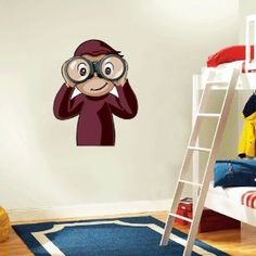 "Curious George Wall Decal Room Decor 18"" x 25"""