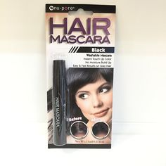 4bcbf280906 Amazon.com: Hair Mascara Instant Touch up Color Fast Results on Gray Hair:  Beauty