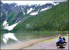 Avalanche Lake on a Misty Morning - Glacier National Park